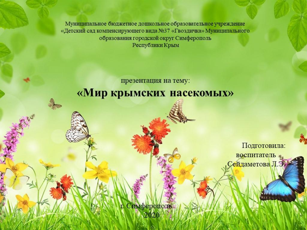 МИР КРЫМСКИХ НАСЕКОМЫХ (демонстрационный материал)